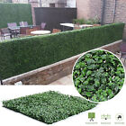 Factitious Boxwood Hedge Privacy Fence Screen Greenery Panels Mat Garden Decor