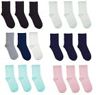 Kids School Solid Colour Bamboo (Rayon) Seamless Socks 3 PACK by Rambutan