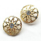 5-20-100pcs Gold Alloy Rhinestone Hollow Buttons 25mm Sewing Craft T0900