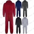 New Unisex Womens Mens Quilted All In One Hooded Piece Celebrity Jumpsuit Onesie