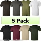 5 PACK PLAIN T-SHIRT 11 COLOURS 100% COTTON CAMPING HIKING FISHING MENS TOP