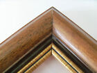 "2"" Wide Walnut/Gold Rim Wood Picture Frame-Custom Made Standard Sizes"
