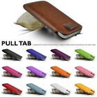 GENUINE TOP LAYER LEATHER IN CASE COVER SLEEVE POUCH FOR ALCATEL SMART PHONES