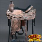 202RO HILASON WIDE GULLET DRAFT WESTERN TRAIL ENDURANCE HORSE SADDLE 15 16 17 18