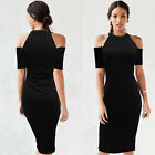 Womens-Sexy-Dress-Ladies-Bodycon-Cocktail-Party-Evening-Dress-Size-6-14