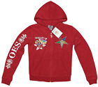 NEW! Order of the Eastern Star Hooded  2 Piece Track-Warm up Suit - Red Velour