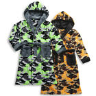 Boys Cargo Bay Camouflage Hooded Dressing Gown Soft Robe In 2 Colours