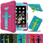Shockproof Heavy Duty Rubber With Hard Stand Case Cover Fr iPad 2/3/4 iPad Mini