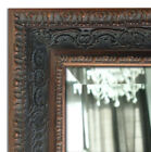Parisienne Ornate Framed Wall Mirror, Vanity Bathroom Mirror Bronze Black