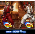 Street Fighter Arcade Side Art Panel Stickers Graphics / Laminated All Sizes