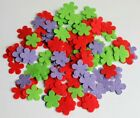MIC CRAFT PACK * 80 FELT FLOWERS * Choice of 9 Colour Combinations