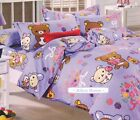 2015 New Rilakkuma Bedding Set for Twins/Single Queen King Bed Purple RARE