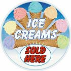 ICE CREAMS Sticker Mix 1 Printed UV Laminated Food Cafe Resturant