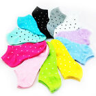 5 Pairs Fashion Soft Women Sports Casual Dot Ankle High Low Cut Cotton Socks