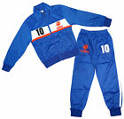 Boys FRANCE No10 Logo Sports Zipper Tracksuit Top & Bottoms Set 4 to 14 Years