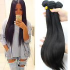 3 Bundles Brazilian Virgin yaki Human Hair Straight Extension 150g UK Delivery