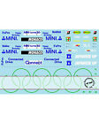 1/43 FILL IN SPONSOR DECALS for MINICHAMPS BMW F109 MONACO & RB5 JAPAN