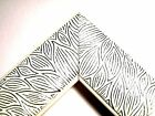 """2"""" Wild White/Silver Wood Picture Frame-Custom Made Standard Sizes"""