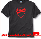 DUCATI bikes RACING MOTOCROSS A TV T SHIRT BLACK /RED LOGO FREE SHIPPING#730