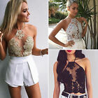 CHIC Sexy Women's Lace Vest Top Sleeveless Shirt Blouse Casual Tank Tops T-Shirt