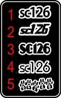 RACE NUMBERS X2  STICKERS DECALS  PRINTED & LAMINATED