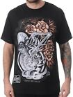 Copper Rose Men's Black T-Shirt by Sullen