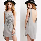 From UK Women Casual Sleeveless Top Vest Blouse Summer Shirt Long Tops Dress
