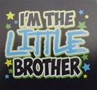 I'M THE LITTLE BROTHER WITH BLUE Kids Tee Shirt  Many Colors 2-4=XS TO 14-16=LG