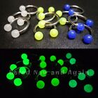 18g/16g Glow in the Dark! Surgical Steel 10mm or 12mm Horseshoe Circular Ring