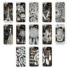Quicksand Liquid Flowing Sparkles Black Stars Case Cover For iPhone 5S SE BYWG
