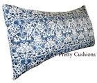 Liberty of London William Morris Lodden Blue Bolster Cushion Cover