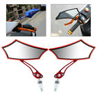 Universal Aluminum Bar End Rearview Side Mirrors For Motorcycle 1 Pair