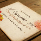Shabby Chic Postcard Wedding Save the Date or Save the Evening - Retro Vintage