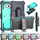 Hybrid Rubber Hard Armor Belt Clip Holster Case Cover for Samsung Galaxy J7 J700