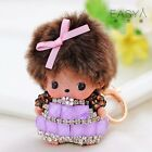 Monchhichi crystal girl key chains fashion doll Purse keyfob pendant keyring