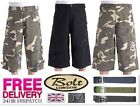 Bleubolt Mens Army Military Combat Camouflage Fatigue Shorts