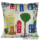 Sanderson Jubilee Square Red & Blue Cushion Cover