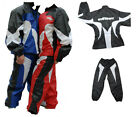 NEW WULFSPORT WATERPROOF 2x PIECE MOTORCYCLE RAIN OVERSUIT JACKET PANTS SET ROAD