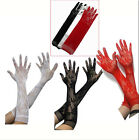 Sexy Stretch Lace Women Opear/ Long BF4U Length New Black White Red Gloves -