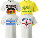 Brazil Mens Football T-Shirt  Heavyweight 100% Cotton Brasil Tee New