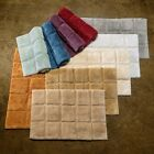Superior Collection Luxurious Cotton Non-skid 2 PC Checkers Bath Rug Set