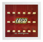 Lego Red Logo Minifigures Display Case Picture Frame  minifigs