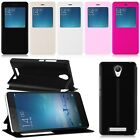 New View Window Stand Flip PU Leather Case Cover For Xiaomi Redmi note 2
