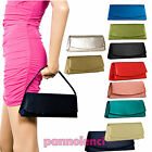 Women's handbag clutch bag satin baguette MANY COLOURS shoulder strap 89314
