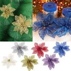 Christmas Tree Flowers Decoration Glitter Hollow Wedding Xmas Party Decor