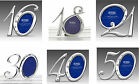 16th 18th 21st 30th 40th OR 50th Birthday Silver Diamante Number Photo Frame NEW