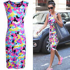 CHIC Sexy Women Summer Bodycon Sleeveless Floral Print Evening Party Mini Dress