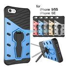 Hybrid TPU&PC Dual-layer 360 degree Kickstand Rugged Case Cover for iPhone 5/5S