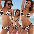 Bikini woman swimwear sea zebrine band butterflies two pieces new B2326