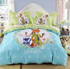 New 2016 Movie Zootopia Judy Nick Bedding Set 4pc Queen King Bed Cotton RARE